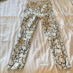 Zara Star Pants Distressed like new